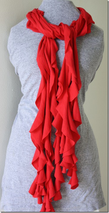 T-Shirt Scarf Tutorial no sew | TidyMom