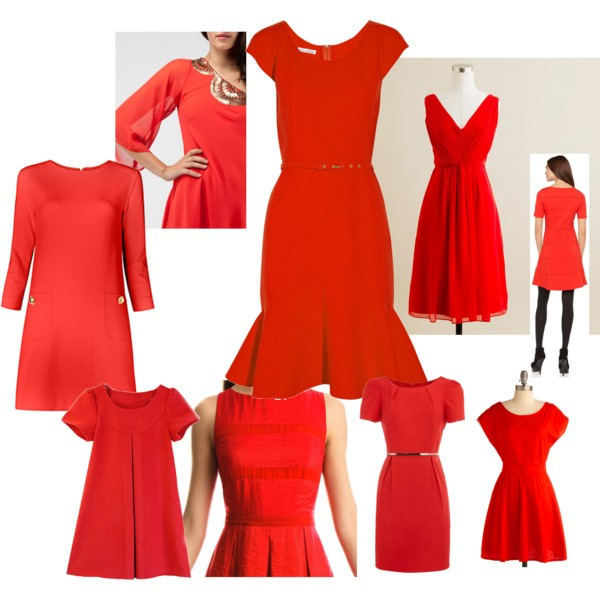 how to wear a red dress for christmas